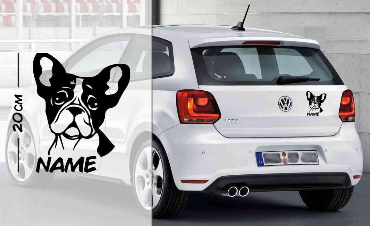 Französische Bulldogge #1 | Tier | Wunschtext | Autoaufkleber | Hund