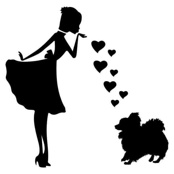 Prinzessin Zwergspitz Herz | Hund | Wunschtext | Auto Aufkleber | Decal