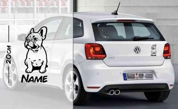 Bulldog | Hunde Aufkleber | mit Name | Auto Aufkleber | coole Aufkleber | lustige | Wunschtext