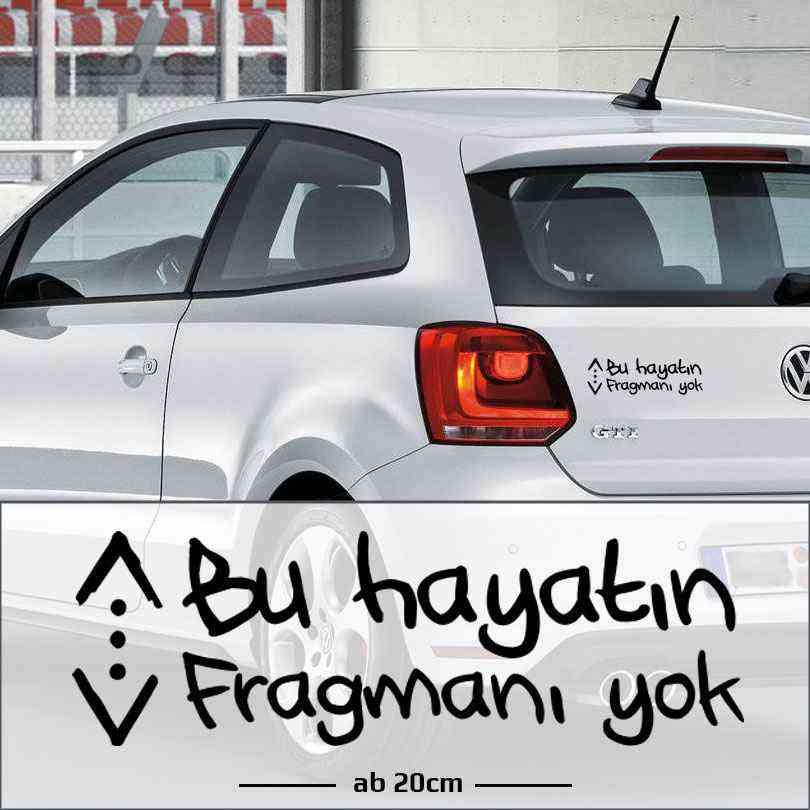 Cukur Emblem Araba | Bu Hayatın Fragmanı yok | Autoaufkleber | Türk Dizi Çukur