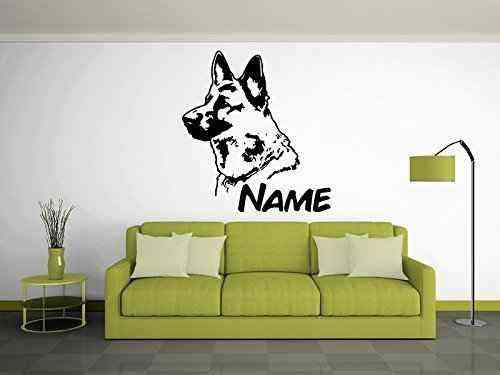 Deutscher Schäferhund | Wandtattoo | Name | Wunschtext |
