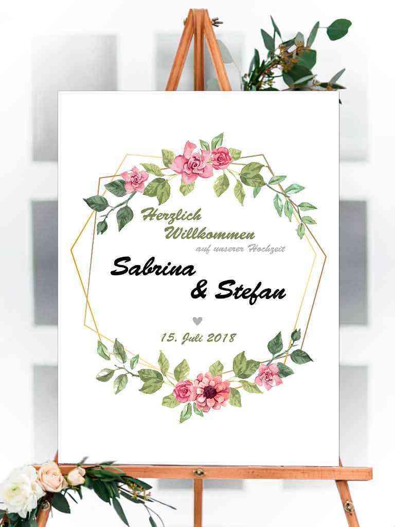 Willkommens Schild - Hochzeit, Party, Geburtstag, Feier | 100x75cm | personalisiert, individuell #3