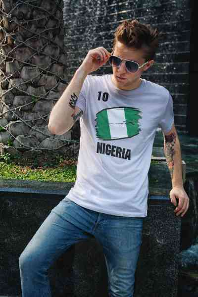 Nigeria | Männer oder Frauen Trikot T - Shirt mit Wunsch Nummer + Wunsch Name | WM 2018 T-Shirt