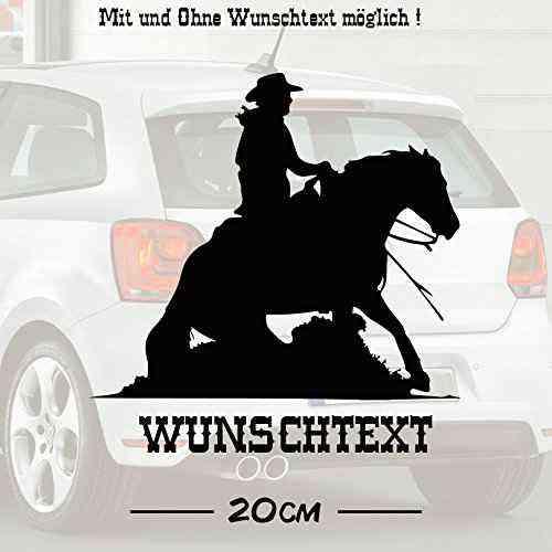 Sliding Stop #2 mit Wunschtext | Autoaufkleber | Pferde | Tiere | Wunschtext