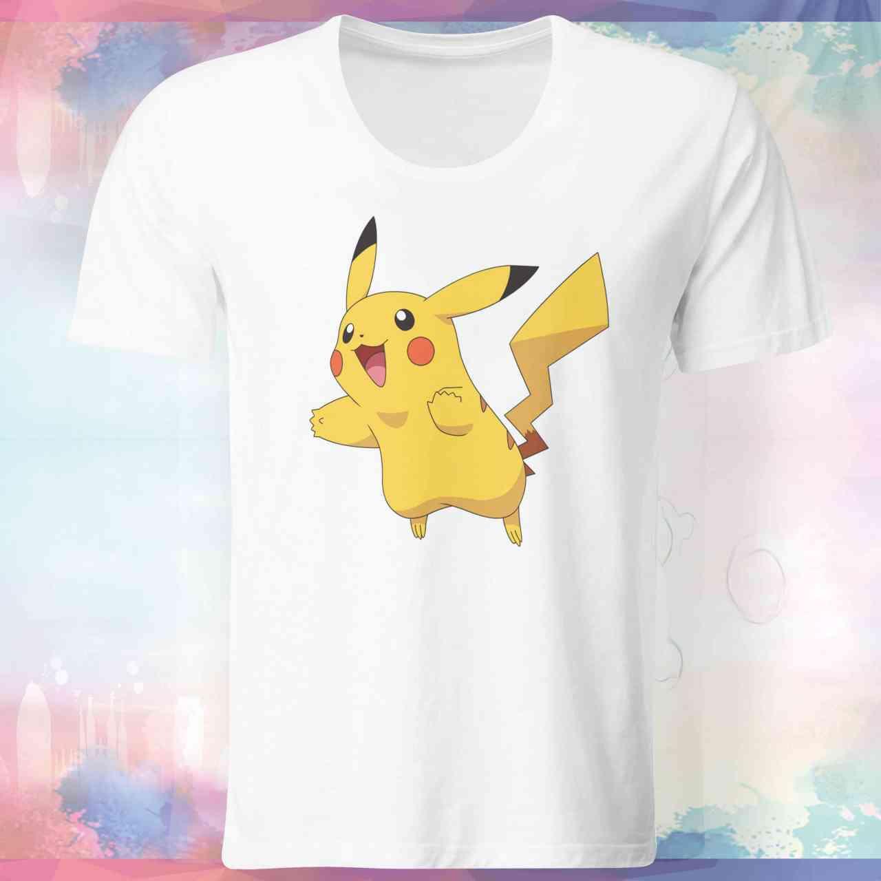 """Pokemon Go Shirt """"Pikachu #3"""" mit Trainer Name und Code"""