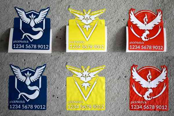 Pokemon Go Team Trainer Code Aufkleber #1 | individuell mit Name und Code | Valor Mystic Instinct