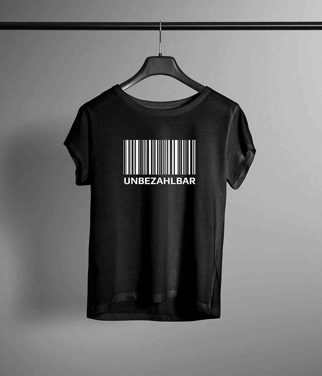 Unbezahlbar Barcode T-Shirt | Männer oder Frauen (Unisex) | Lustig | Funny