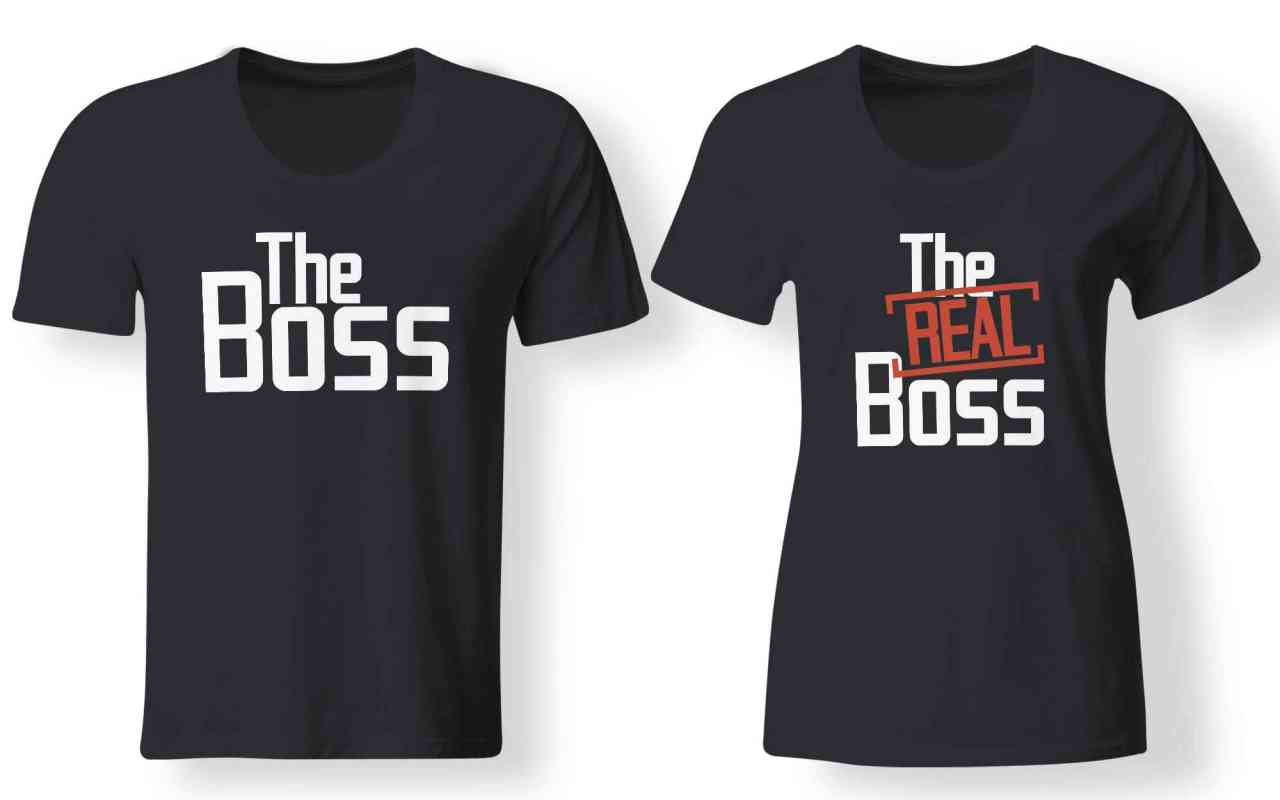 The Boss | The Real Boss - Partner Look | T-Shirt - Funshirt - Shirt