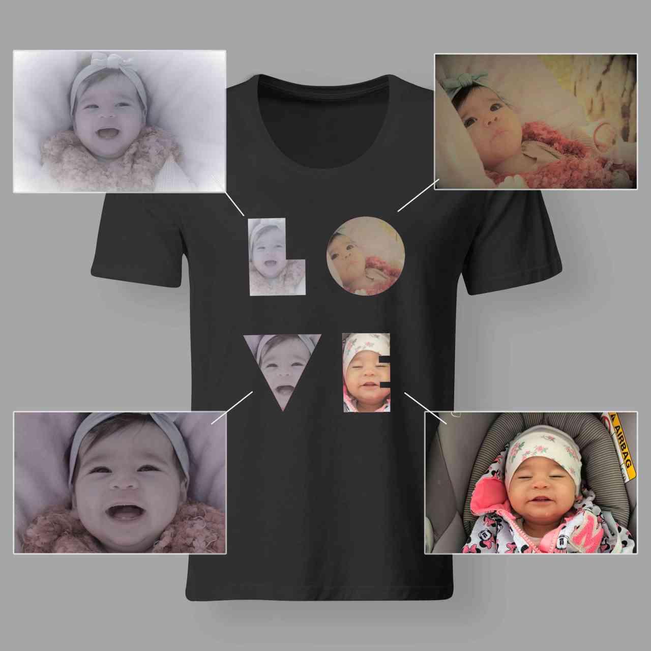 LOVE - Foto Shirt | 101% individuell mit Lieblingsfoto´s | Geschenkidee