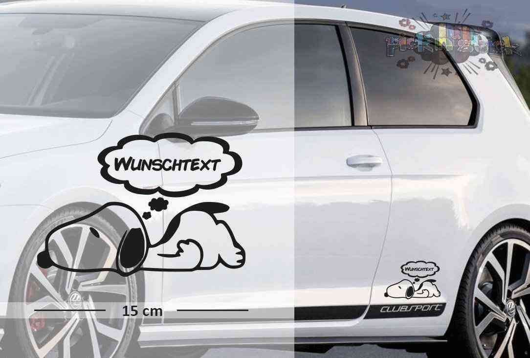Snoopy #3 | Baby - Name On Board | Wunschtext | Autoaufkleber | Lustig | Baby On Board