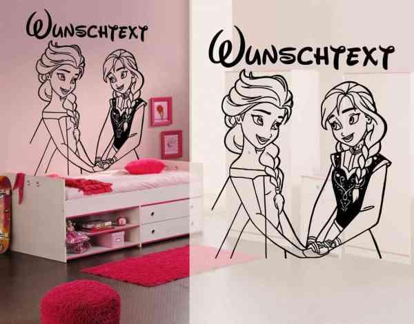 Die Eiskönigin #1 | Elsa und Anna | Name | Wunschtext | Wandtattoo | Möbel | Tür Aufkleber