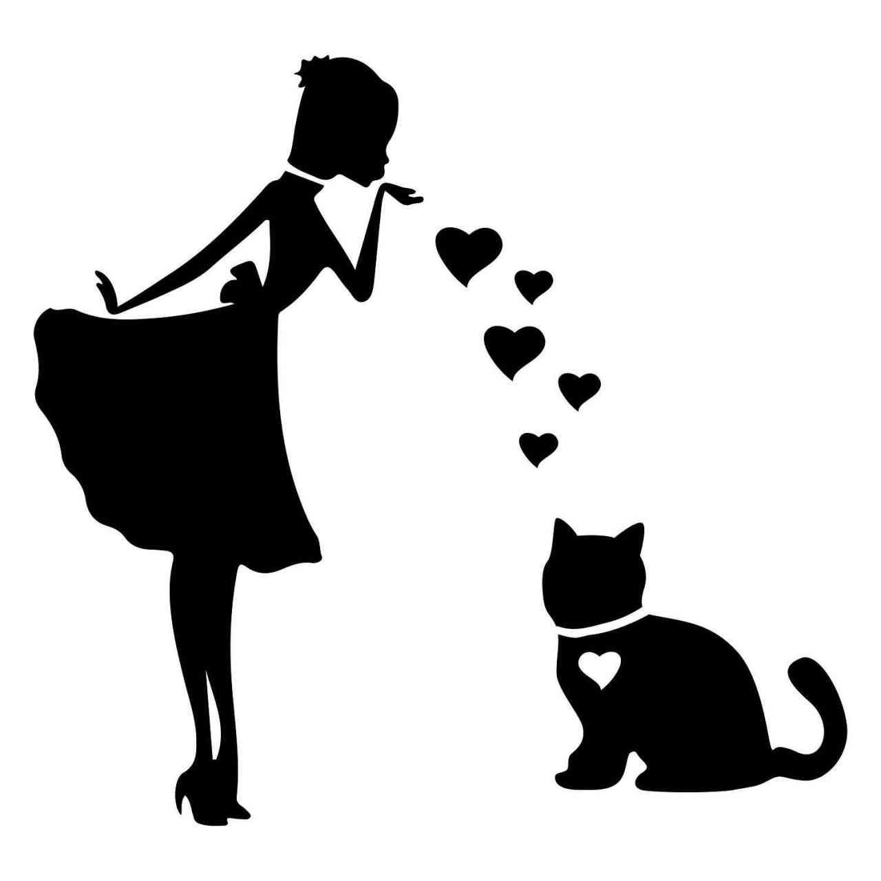 Prinzessin Katze Herz | Katze | Wunschtext | Autoaufkleber | Decal