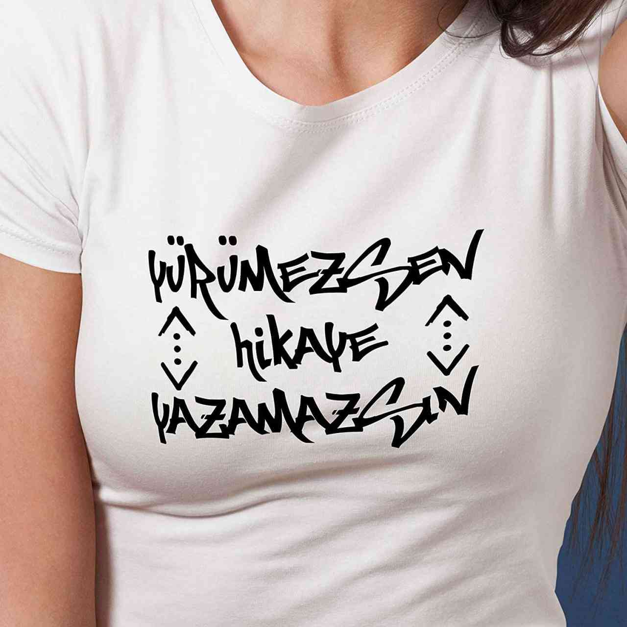Cukur Yürümezsen Hikaye Yazamazsin T-Shirt | Männer oder Frauen (Unisex) | Türk Dizi Çukur