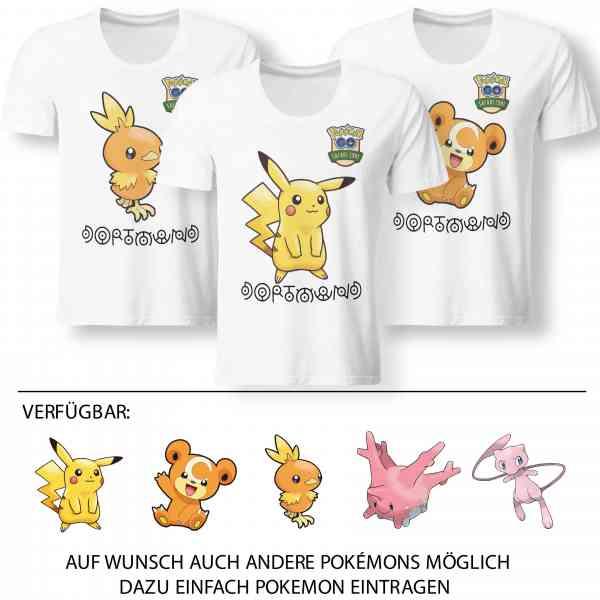 Pokemon Go Dortmund Shirt mit Trainer Name und Code