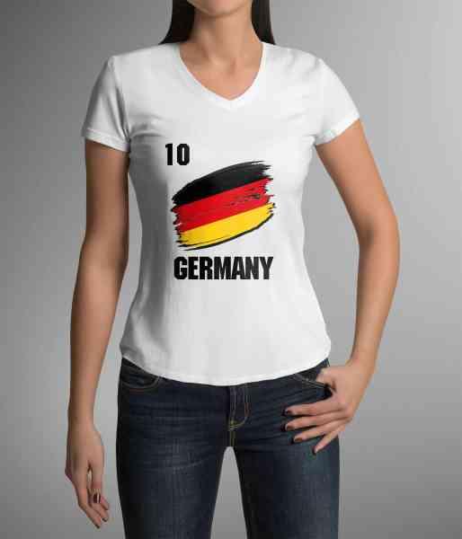 Germany | Deutschland | Männer oder Frauen Trikot T - Shirt mit Wunsch Nummer + Name | WM 2018