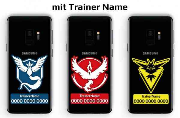 Pokemon Go Team Trainer Code Handy Aufkleber