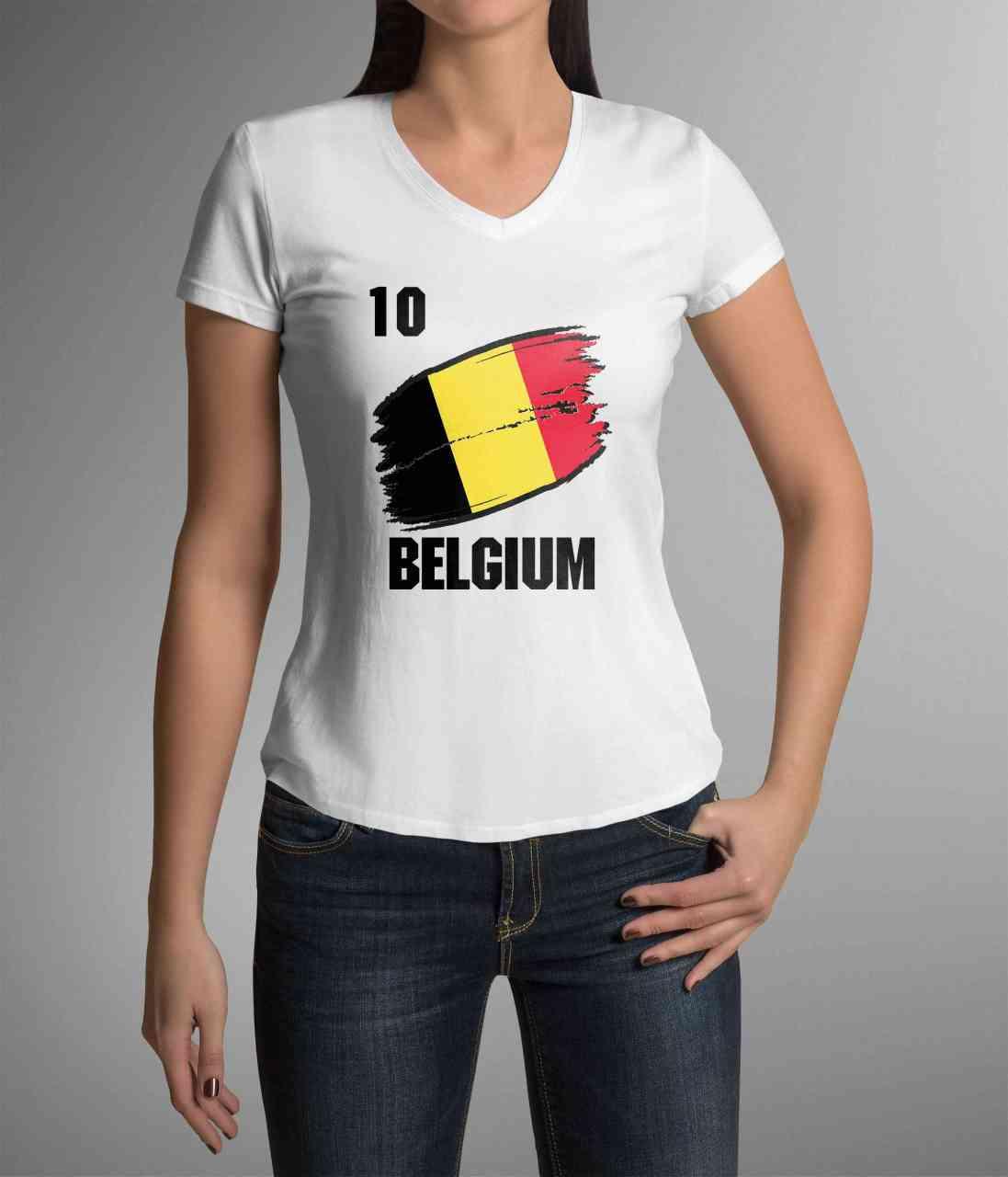 Belgium | Belgien | Trikot T-Shirt mit Nummer + Name | WM 2018 | Männer/Frauen
