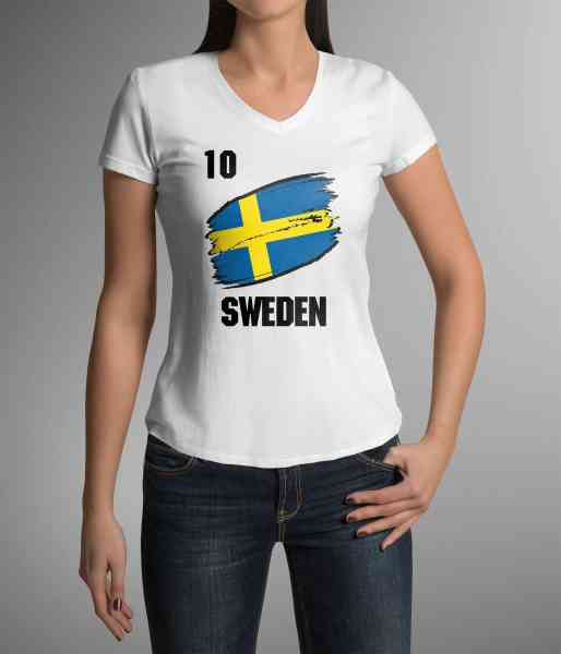 Sweden | Schweden | Männer oder Frauen Trikot T - Shirt mit Wunsch Nummer + Wunsch Name | WM 2018