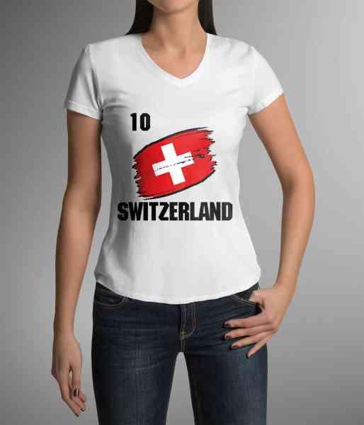 Switzerland   Schweiz   Männer/Frauen Trikot/T-Shirt mit Nummer + Name   WM 2018