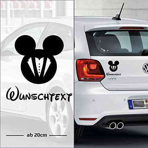 Micky Boy Maus | Baby - Name On Board | Wunschtext | Auto Aufkleber | Lustig | Baby On Board