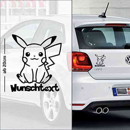 Pickachu 1 | Baby - Name On Board | Wunschtext | Autoaufkleber | Pokemon | Baby On Board