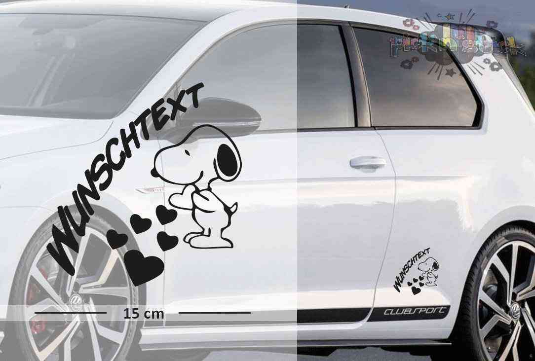 Snoopy #2 | Baby - Name On Board | Wunschtext | Autoaufkleber | Lustig | Baby On Board