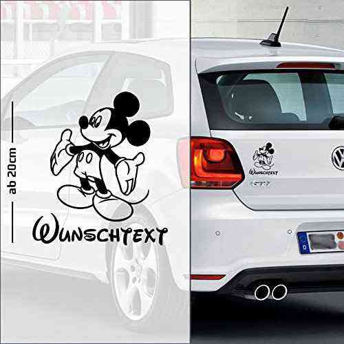 Micky Maus #7 | Baby - Name On Board | Wunschtext | Autoaufkleber | Minnie Maus | Baby On Board