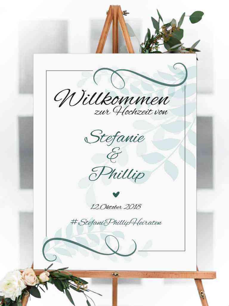 Willkommens Schild - Hochzeit, Party, Geburtstag, Feier | 100x75cm | personalisiert, individuell #1