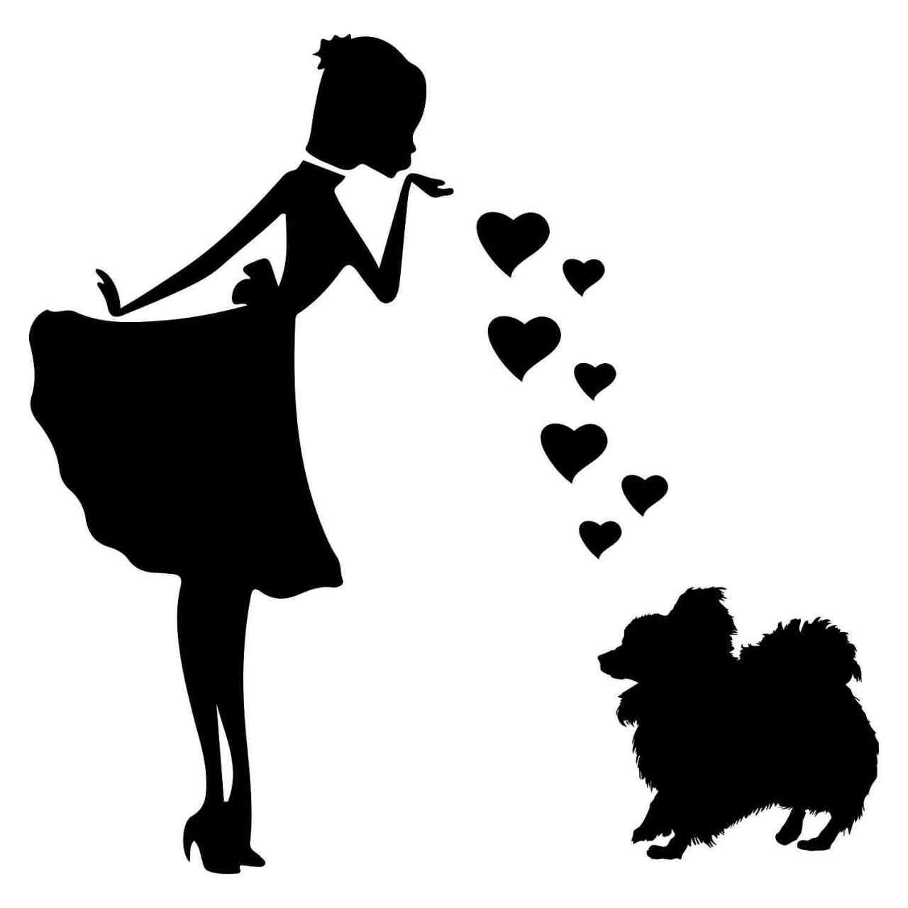 Prinzessin Zwergspitz Herz | Hund | Wunschtext | Autoaufkleber | Decal