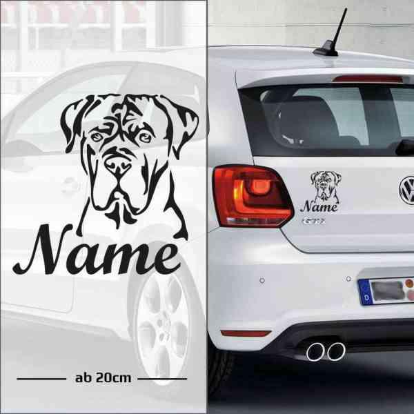Cane Corso | Tier | Wunschtext | Autoaufkleber | Hund