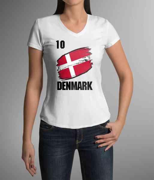 Denmark   Dänemark   Männer oder Frauen Trikot T - Shirt mit Wunsch Nummer + Wunsch Name   WM 2018