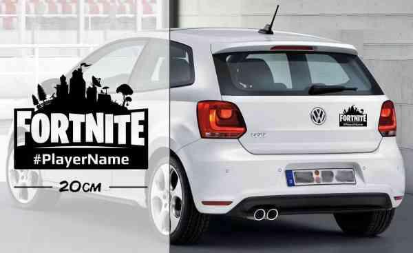 Fortnite e-Sports mit Player Name   Auto Aufkleber   coole Aufkleber   Gaming   Name
