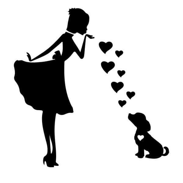 Prinzessin Welpe Süß Hund Herz | Hund | Wunschtext | Auto Aufkleber | Decal