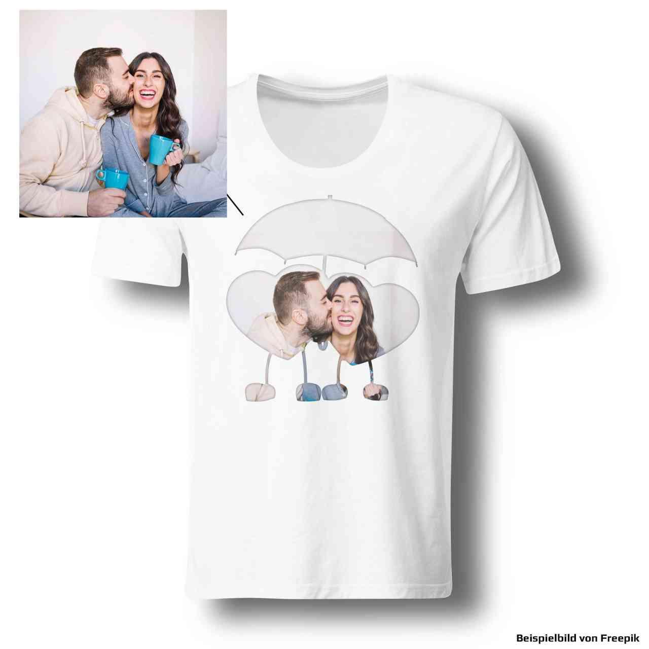 Herz Regenschirm Foto Shirt 101% individuell