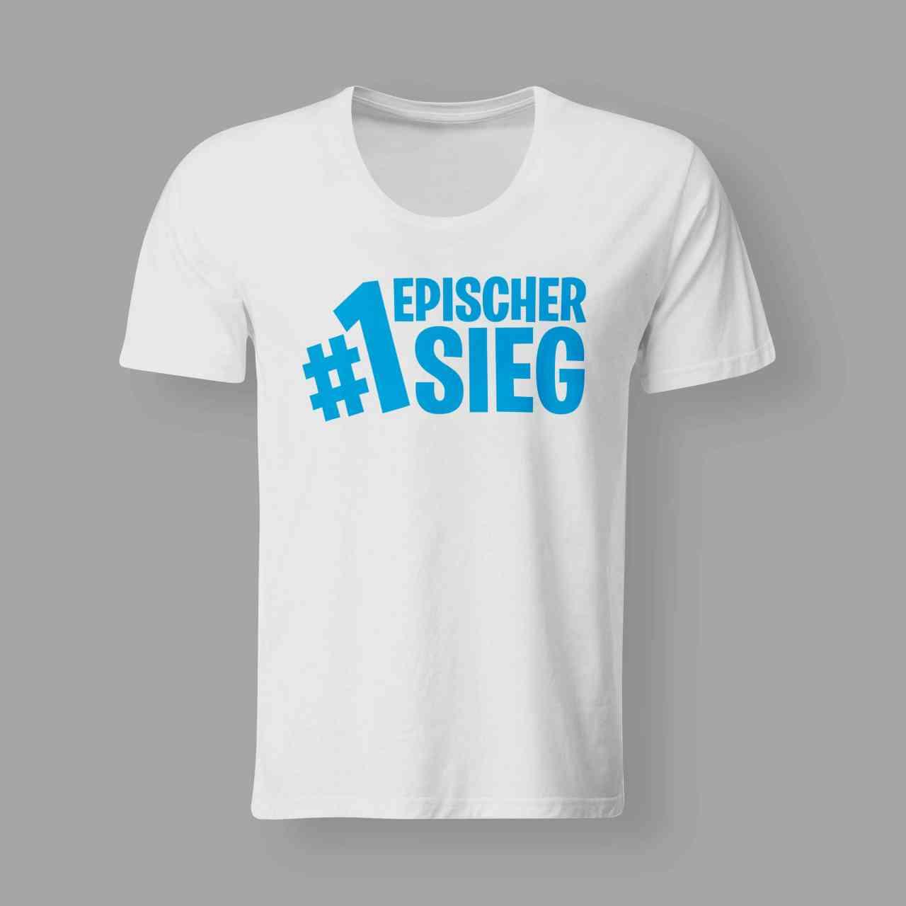Epischer Sieg - T-Shirt - Zocken Team - Funshirt   Herren T-Shirt und Frauen T-Shirt   Fortnite