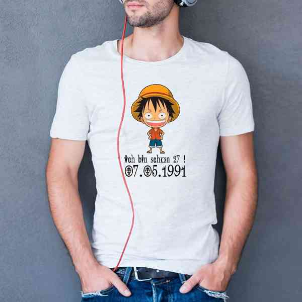 Luffy - Geburtstag T-Shirt | Mokey D Lufy Shirt | One Piece T Shirt