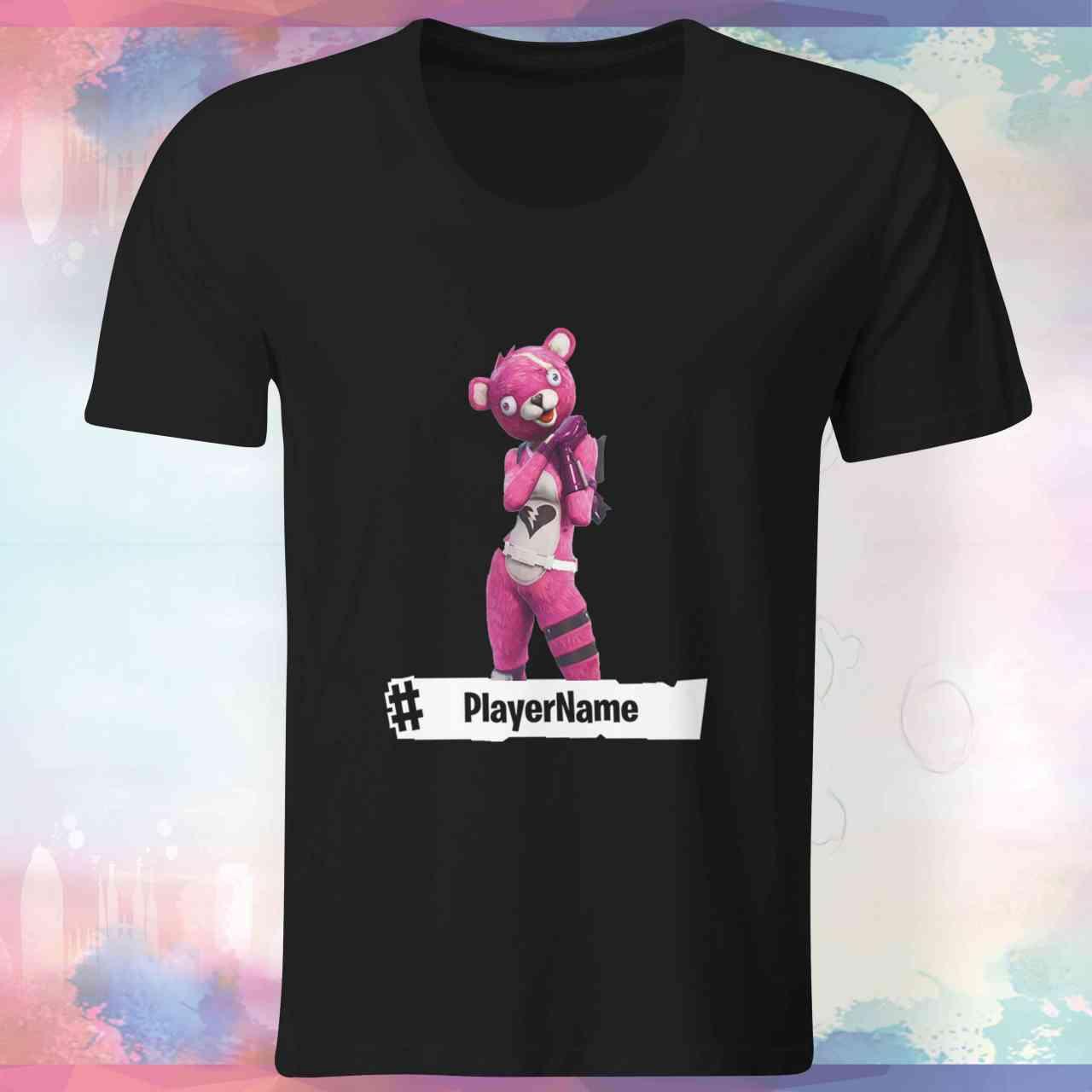 Fortnite | Pink Bear Shirt | mit Player-Name | Battle Royal | T-Shirt | E-Sports - Gamer …