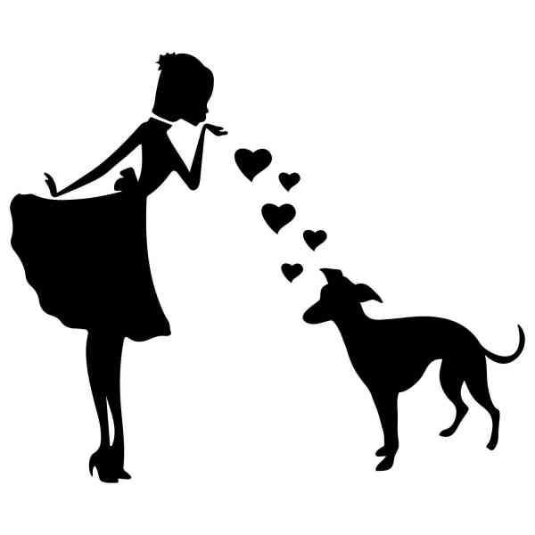 Prinzessin Windhund Herz | Hund | Wunschtext | Auto Aufkleber | Decal