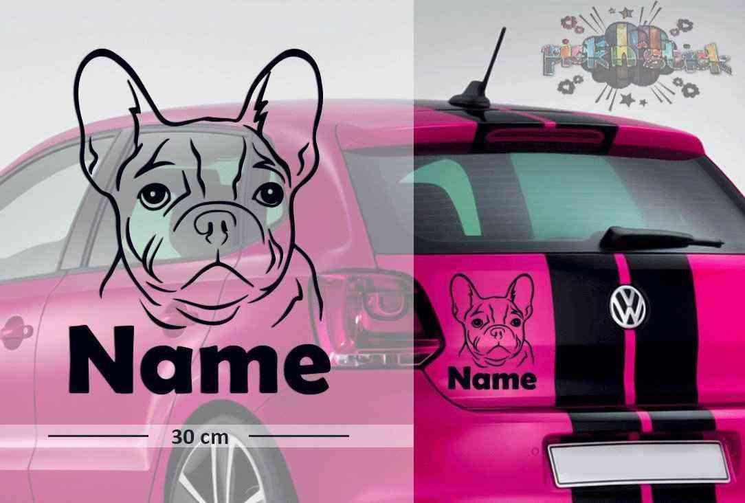 Bulldog #8 | Tier | Wunschtext | Autoaufkleber | Hund