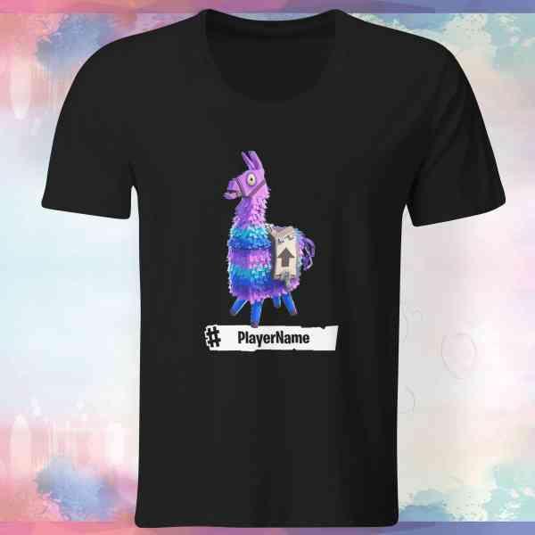Fortnite Llama Shirt | mit Player-Name | Battle Royal | T-Shirt | E-Sports - Gamer Nr.2