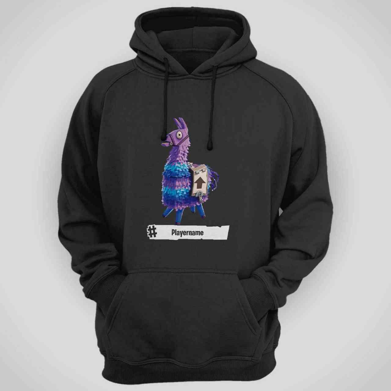 Fortnite Llama Hoodie | mit Player-Name | Battle Royal | T-Shirt | E-Sports - Gamer Nr.2 …