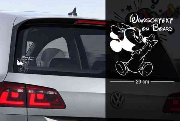 Micky Maus #2 | Baby - Name On Board | Wunschtext | Auto Aufkleber | Lustig | Baby On Board