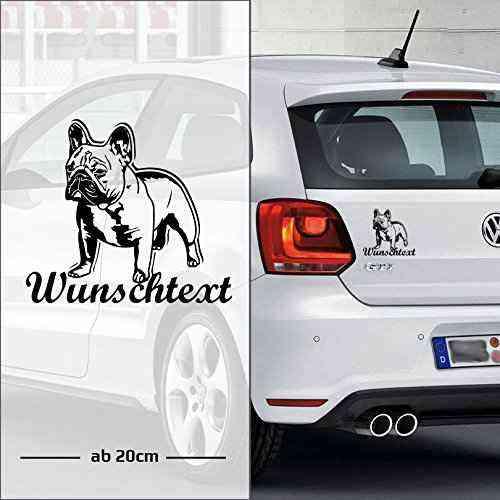 Bulldog #2 Neu | Wunschtext | Auto Aufkleber | Tier | mit Name | Hund