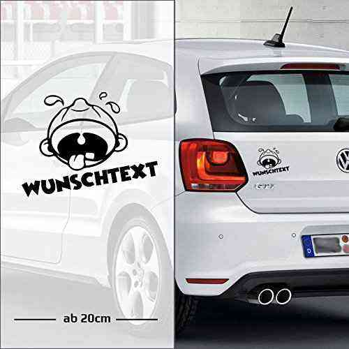 "Baby Cry""Baby weint"" Wunschtext Auto Aufkleber 