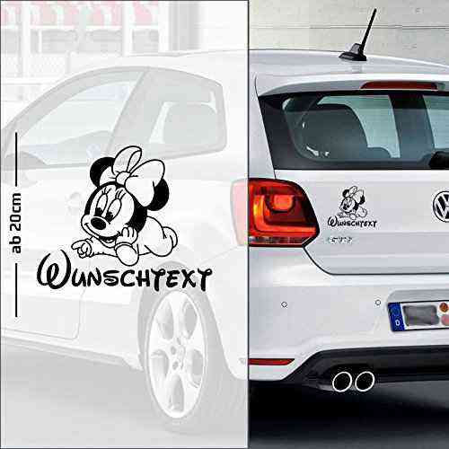 Micky Maus #10 | Baby - Name On Board | Wunschtext | Autoaufkleber | Minnie Maus | Baby On Board