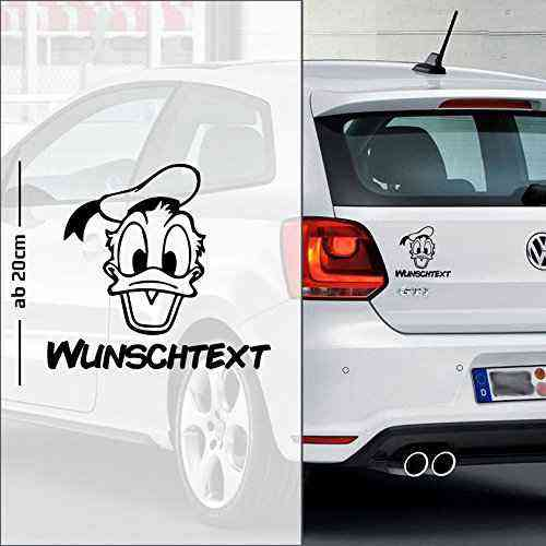 Donald Duck #1   Baby - Name On Board   Wunschtext   Autoaufkleber   Baby On Board