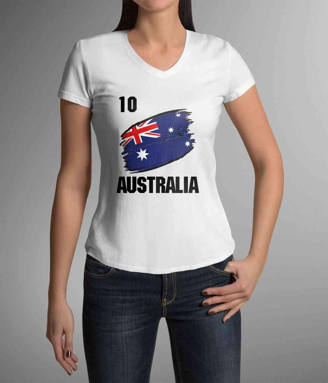 Australia | Australien | Männer oder Frauen Trikot T - Shirt mit Wunsch Nummer + Name | WM 2018