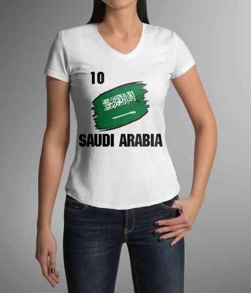 Saudi Arabia | Saudi Arabien | Männer oder Frauen Trikot T - Shirt mit Nummer + Name | WM 2018