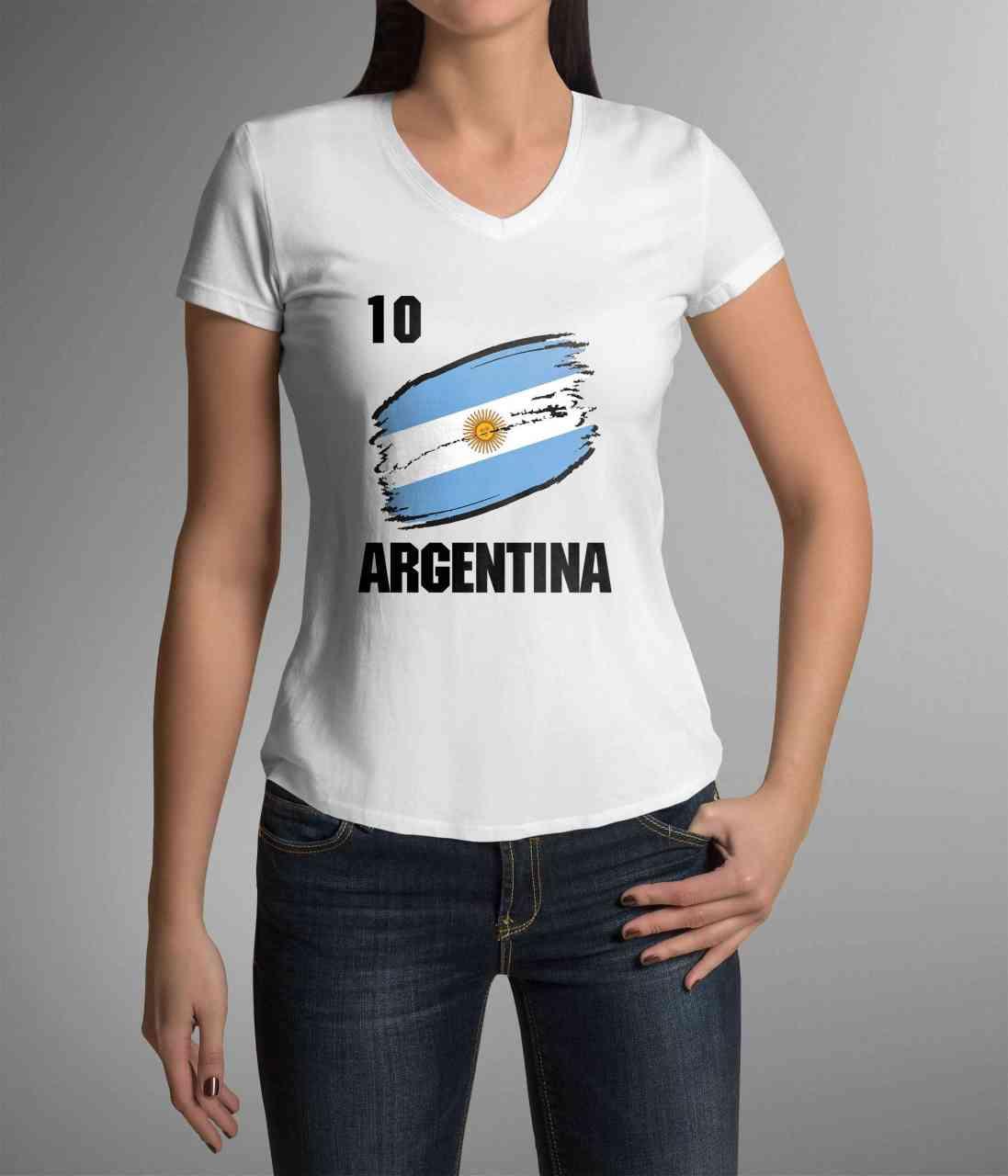 Argentina | Argentinien | Männer oder Frauen Trikot T - Shirt mit Wunsch Nummer + Name | WM 2018