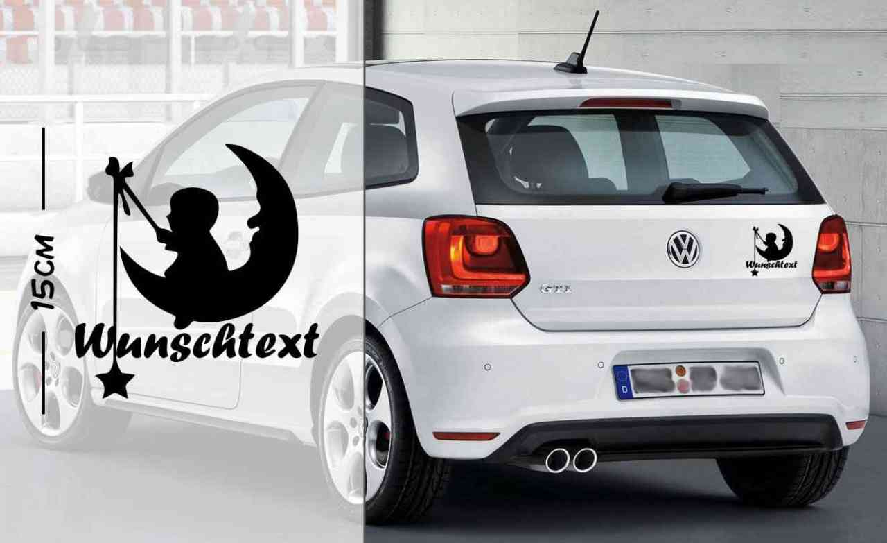 Baby Mond Wunschtext | Autoaufkleber | Baby On Board